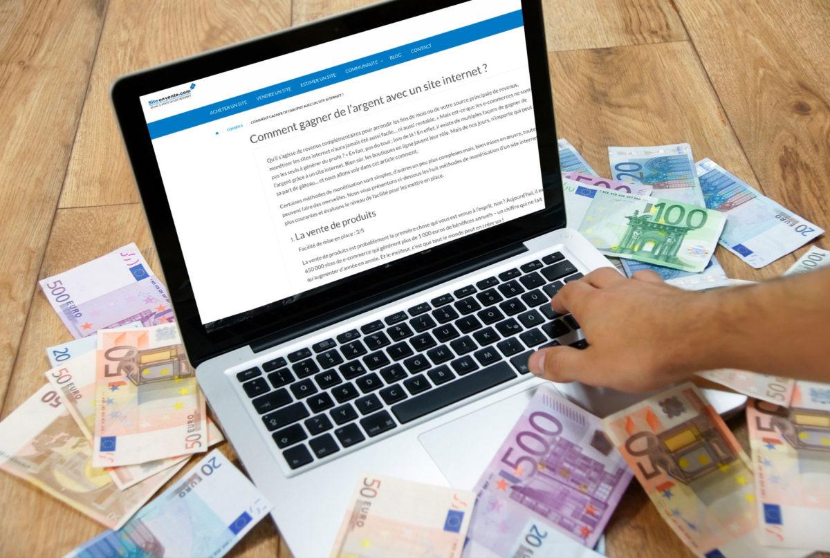 comment un site internet peut gagner de l argent